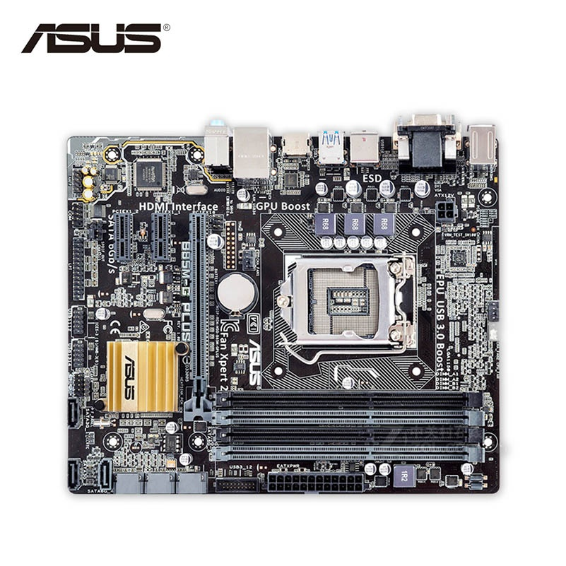 Asus B85M-G PLUS Desktop Motherboard B85 Socket LGA 1150 i7 i5 i3 DDR3 32G SATA3 Micro-ATX Second-hand High Quality