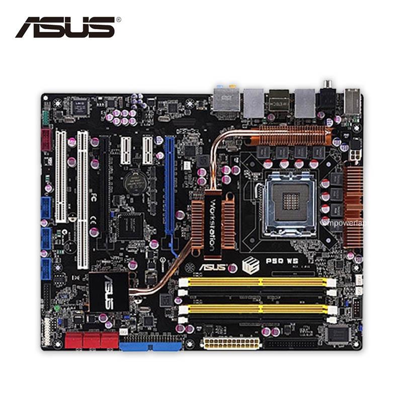 Asus P5Q WS Desktop Motherboard P45 Socket LGA 775 DDR2 8G SATA2 USB2.0 ATX Second-hand High Quality
