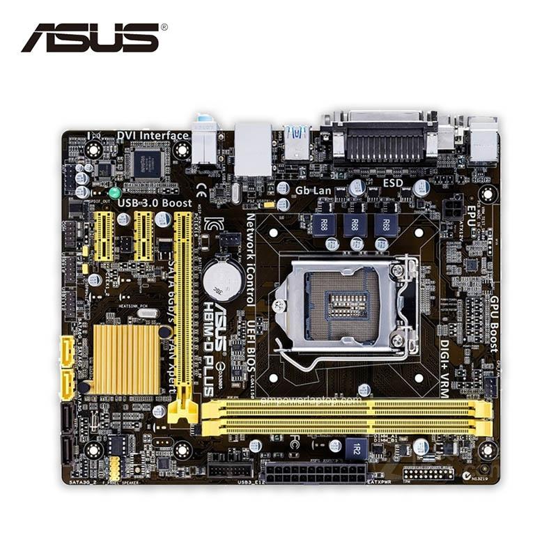 Asus H81M-D PLUS Desktop moderkort H81 Socket LGA 1150 i7 i5 i3 DDR3 16G SATA3 Micro-ATX Begagnad Hög kvalitet