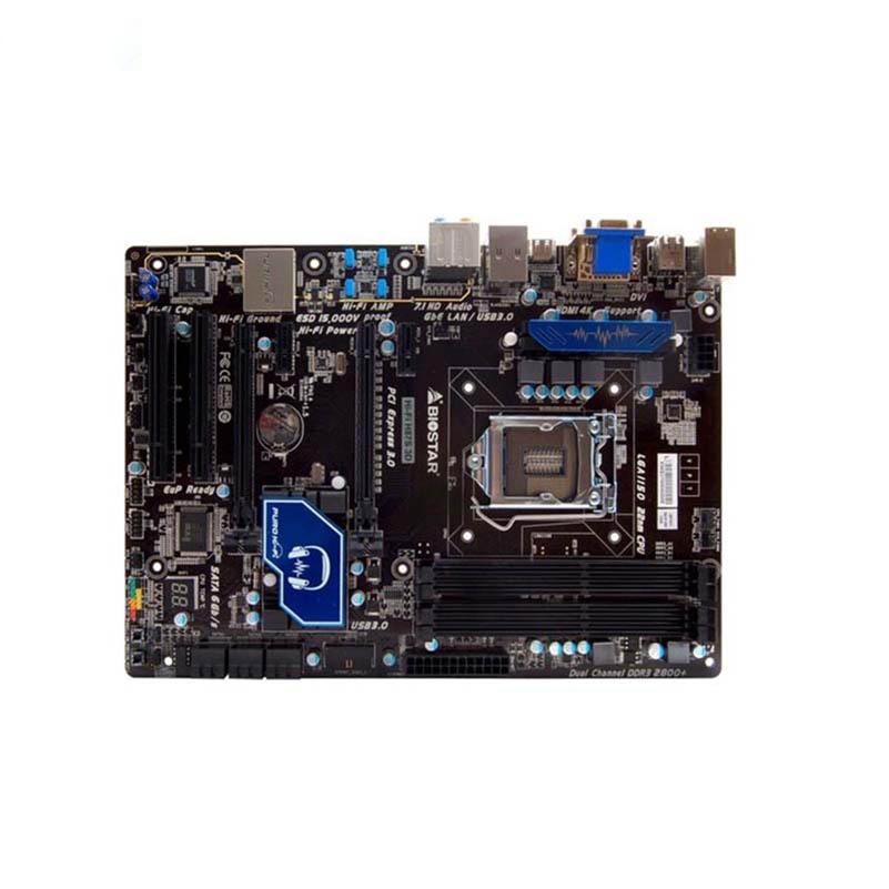 BIOSTAR Hi-Fi H87S 3D Used Motherboard H87 LGA 1150 DDR3 16G SATA3 USB3.0 ATX