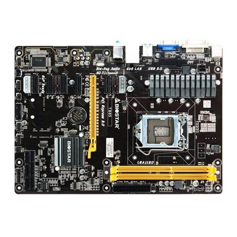 BIOSTAR TB85 Used Strong Mining Desktop Motherboard Support 6PIC-E BTC Miner Machine LGA1150 ATX DDR3 Mainboard