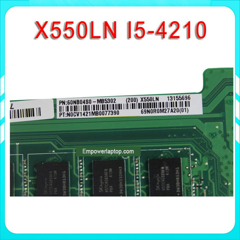 for ASUS A550LN R510LN X550LN Laptop motherboard X550LD REV2.0 Mainboard Graphic GT840 2G i5-4210U Processor 100%