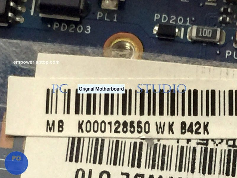 Motherboard for Toshiba Satellite C660D C665D K000128550 PWWBE LA-6849P E-450