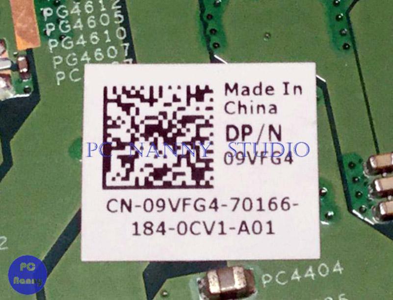 09VFG4 9VFG4 Dell Vostro 3350 System Motherboard Mainboard HM65 DDR3 512MB Graphics
