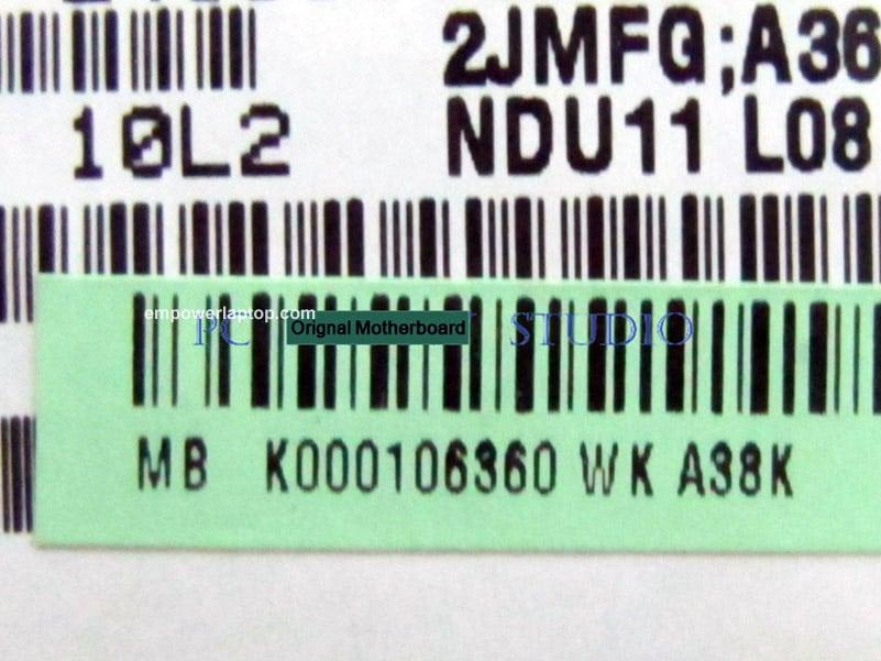 Mainboard LA-6032P K000106360 for toshiba satellite T235 T235D Laptop motherboard DDR3 TMK625 CPU