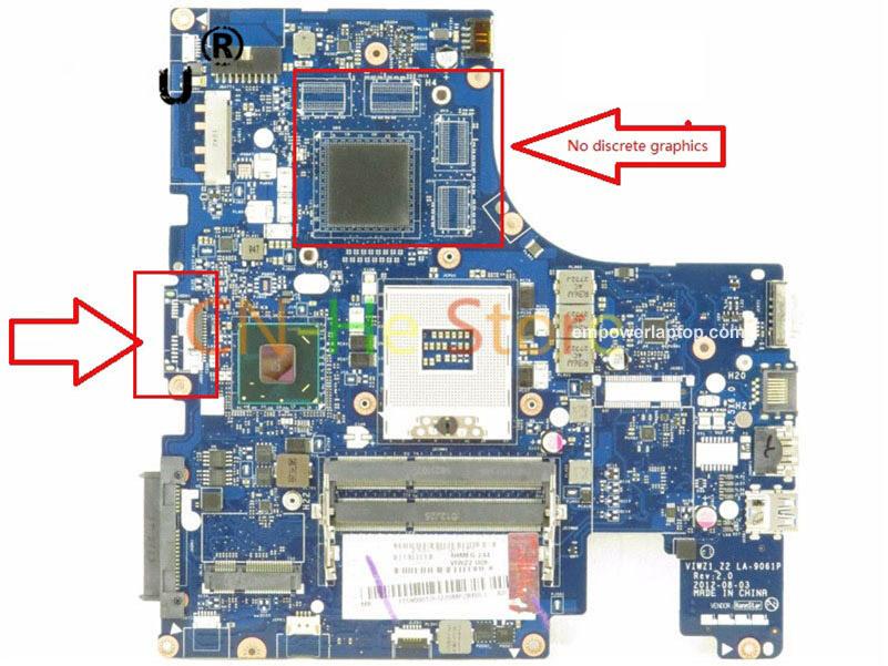 För Lenovo Ideapad P500 Z500 Series Laptop moderkort S989 La-9061p 90.001.767 11s90001767 HM76 DDR3