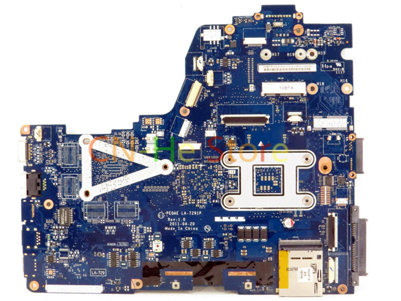 FOR Toshiba Satellite P750D series Laptop Motherboard K000126000 PEQAE LA-7291 Integrated Graphics
