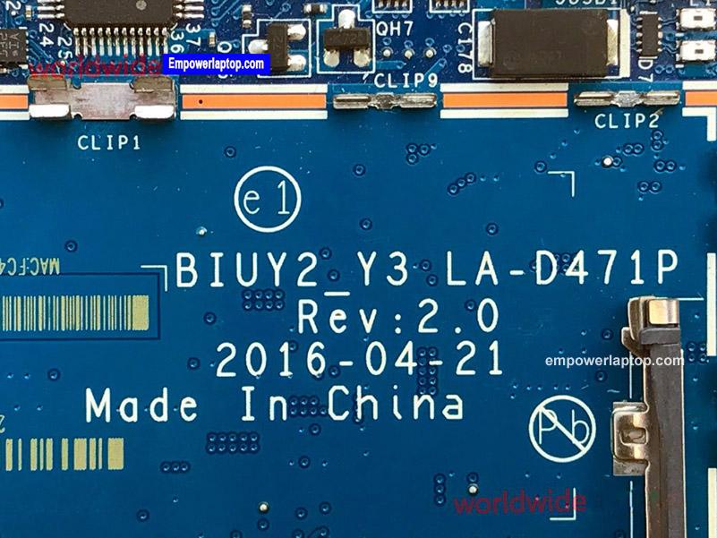 Classy Motherboard For Lenovo Yoga 710-14ISK Laptop With CPU SR2ZU i5-7200U P/N BIUY2 Y3 LA-D471P N16S-GTR-S-A2