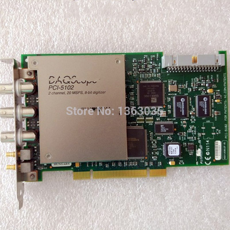 PCI-5102 2 channel 20 MSPS 8-bit digitizer for DAQScope