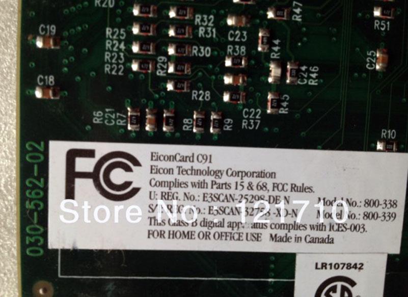 EICON EiconCard C91 ISDN terminal adapter PCI - ISDN BRI ST - 128 ...